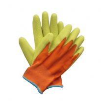 Briers Kids Junior Digger Gloves - Orange & Green